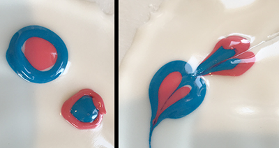 Example of Royal Icing wet-on-wet pattern