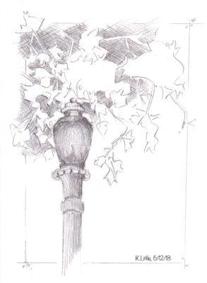 Lamp along Boulevard East in West New York, NJ